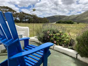 cot 3 stoep blue chair