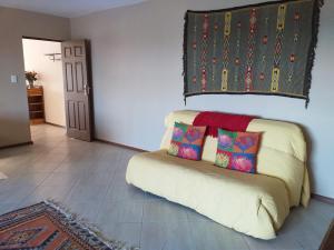 flat 6 yellow sofa